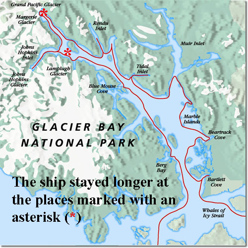glacier bay map w text